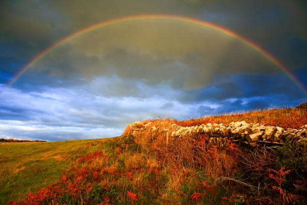 Rainbow over Tintagel