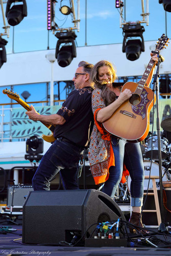 Carlene Carter and Chris Casello back to back