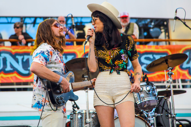 Nikki Lane and guitarist