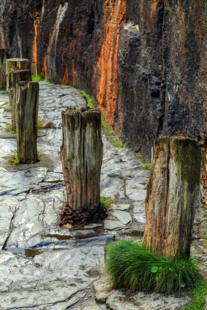 Harbour posts, Boscastle
