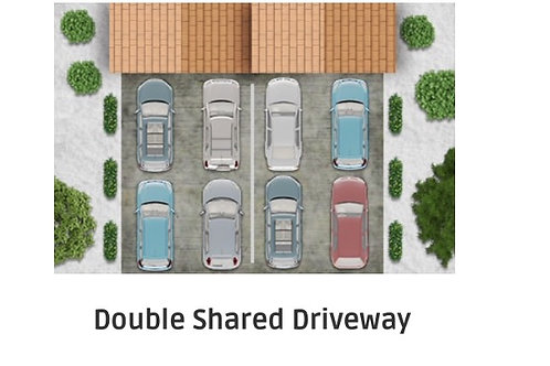 Shared Double Driveway