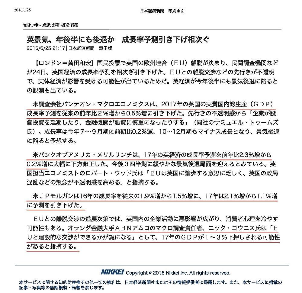 20160625日本経済新聞 電子版