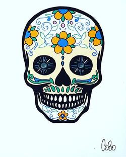 #schoolartstreet #artist #cobo #skull #street #streetart #mexico #graff #graffiti #40hiphop #expo #t