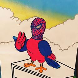 #pigeon #streetart #artist #cobo #streetstyle #streetart #spiderman #street #schoolartstreet #person