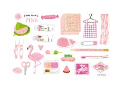ピンクなもの色々(Something pink)
