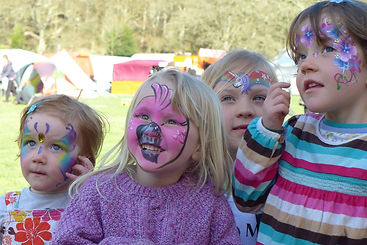 Landed Festival face painted children