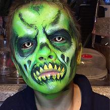 Green zombie facepaint