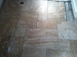 Travertine tiles, French Set pattern