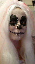 Halloween bride facepaint