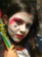 Harley Quinn facepaint