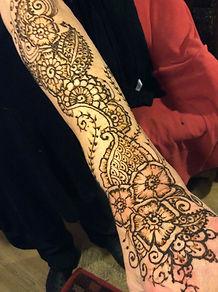 Henna floral sleeve