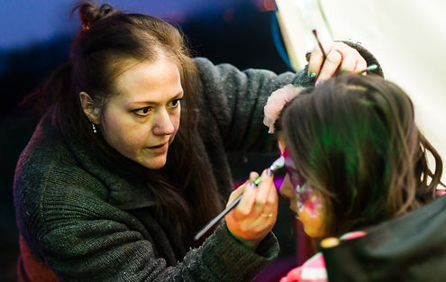 Clemency Bedford Face painter at work