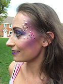 Purple make up with pearls