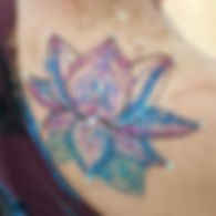 Lotus glitter tattoo