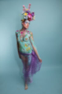 Floral minerva bodypaint