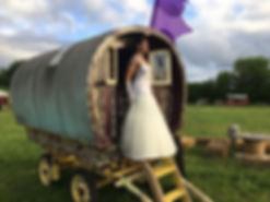 Gypsy caravan wedding body paint
