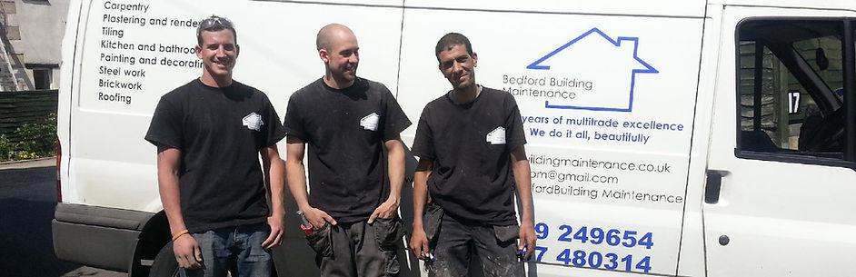 Builders by their van