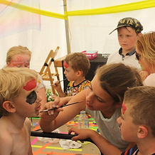 Kids facepaint workshop Bath Bodyart Weekend