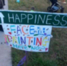 Sign for face painting