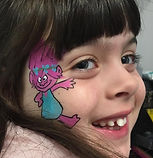 Princess Poppy face paint
