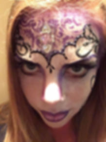 Glamourween purple and black makeup