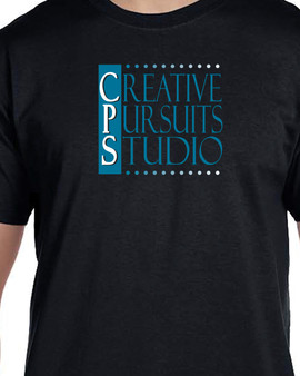 Black T-shirt - Blue Logo