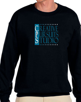 Black Crew Fleece - Blue Logo
