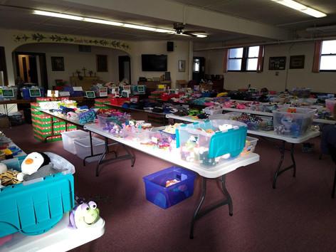 Set up for OCC packing on Nov 8