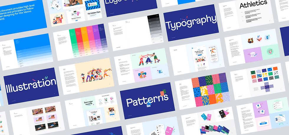 Venmo's new style guide at a glance. 190 pages.