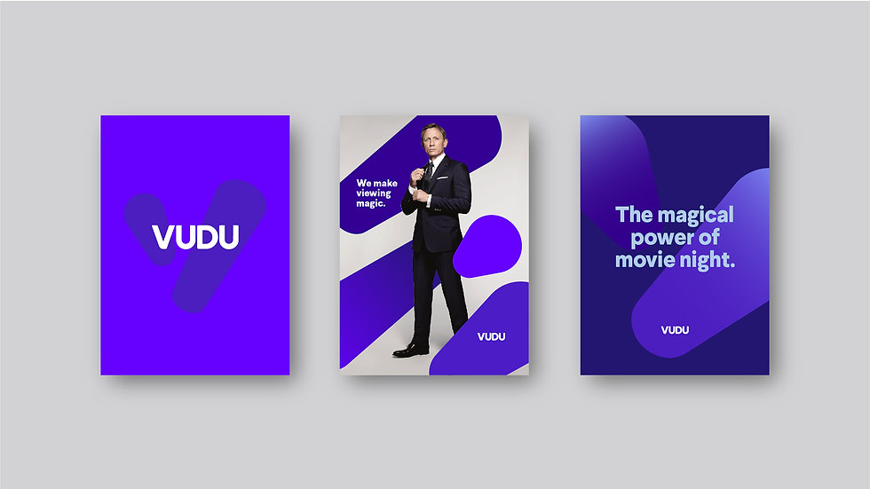 3-up posters showing the VUDU brand
