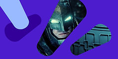 Batman still cropped within shapes