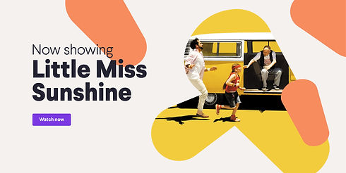 Title card: Now showing Little Miss Sunshine