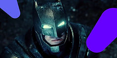 Batman still, with superimposed graphic shapes
