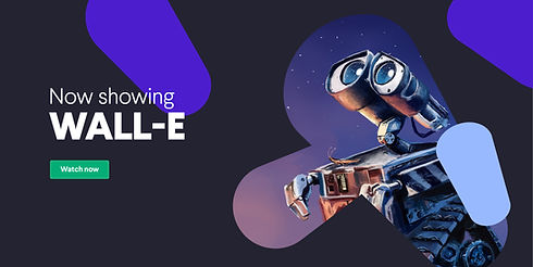 Title card: Now showing Wall-e