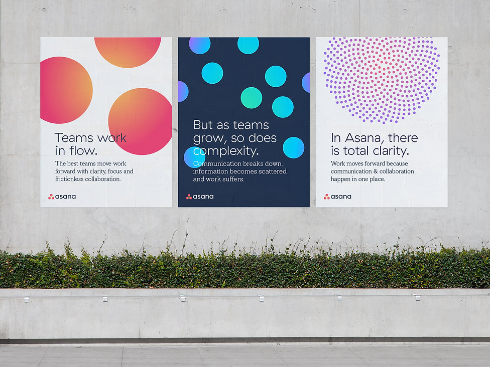 Mockup of 3 posters with circular graphics and messaging