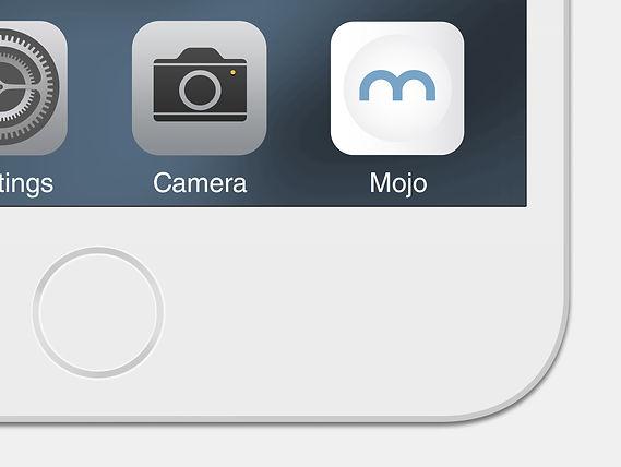 Mockup of app icon in mobile device