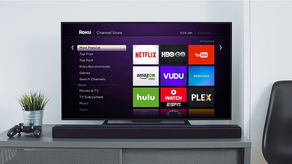 Smart TV mockup with VUDU app