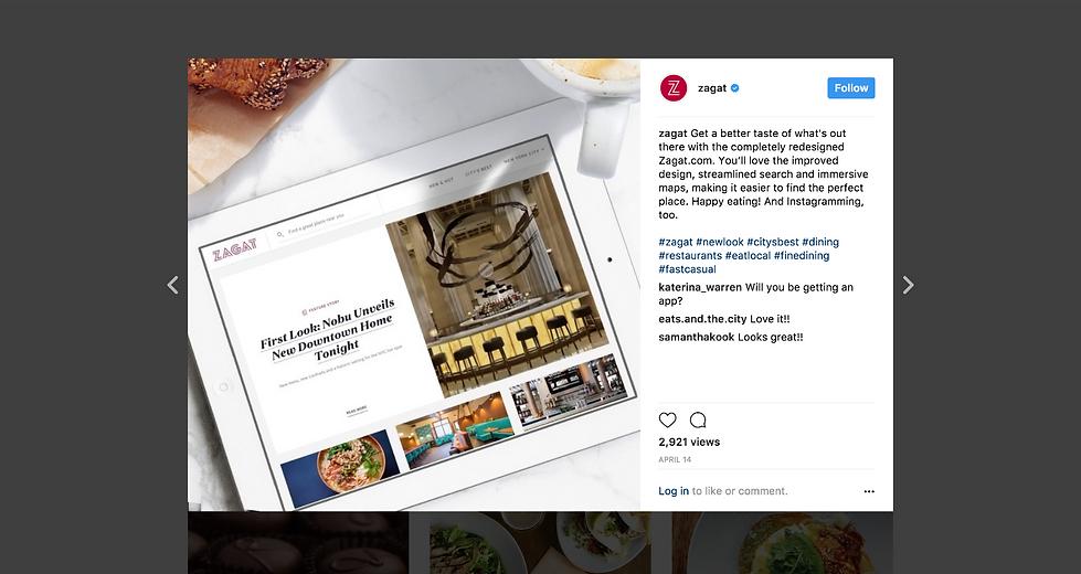 Screenshot of comms on Instagram