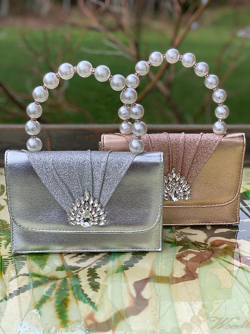 Pearl Bead Handle Clutch
