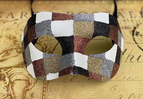 Geometric Glitter Mask