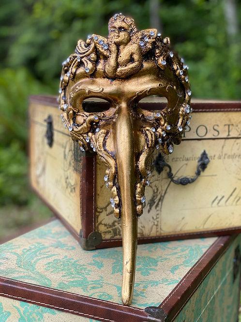 Golden Cherub Scaramouche Mask