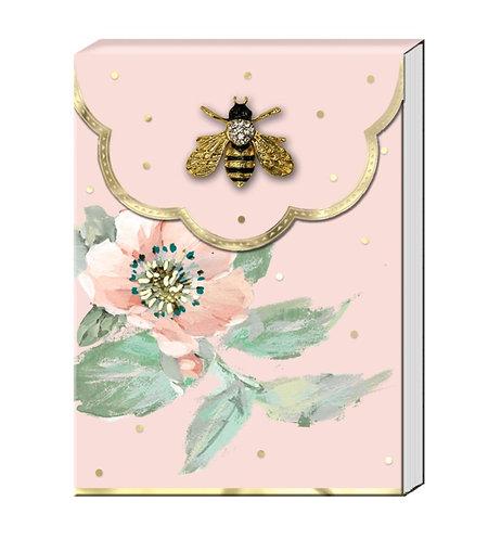 Bee Brooch Notepad