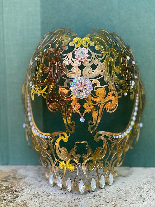Dia De Los Meurtos Mask in Gold