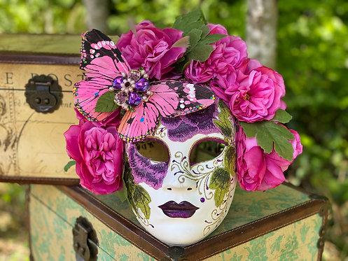 Butterfly Garden Mask in Purple