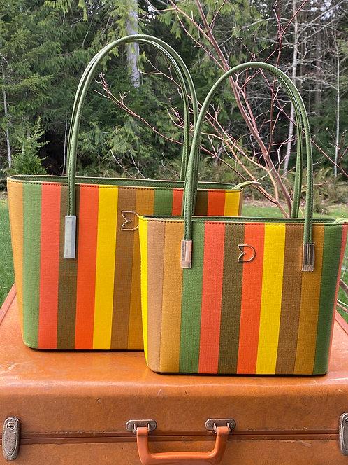 Orange Candy Striped Purse - 2 Sizes