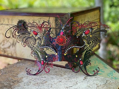 Metal Filigree Butterfly Mask