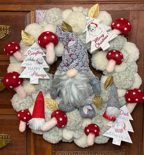 Winter Forest Gnome Wreath Kit