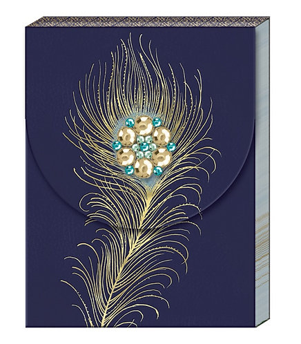 Peacock Broach Notepad