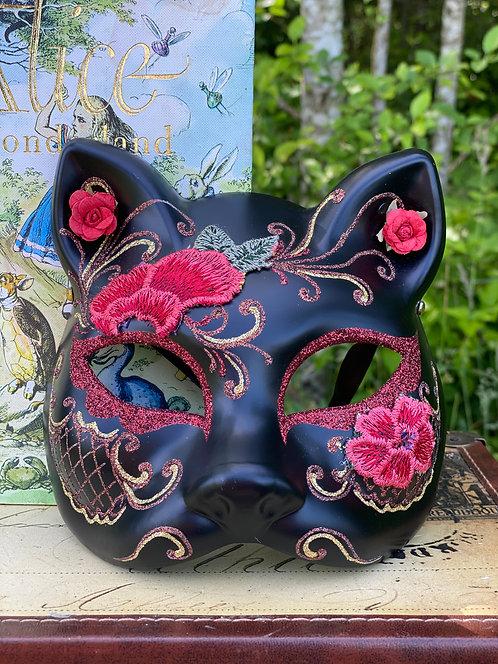 Black Gatto Rose Mask