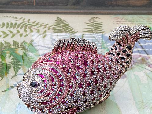 Pink Jeweled Fish Purse